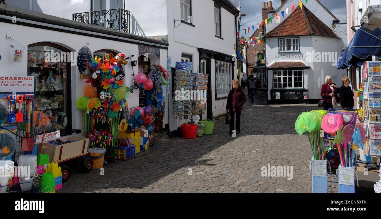 Shops in Lymington in the new Forest Hampshire - Stock Image