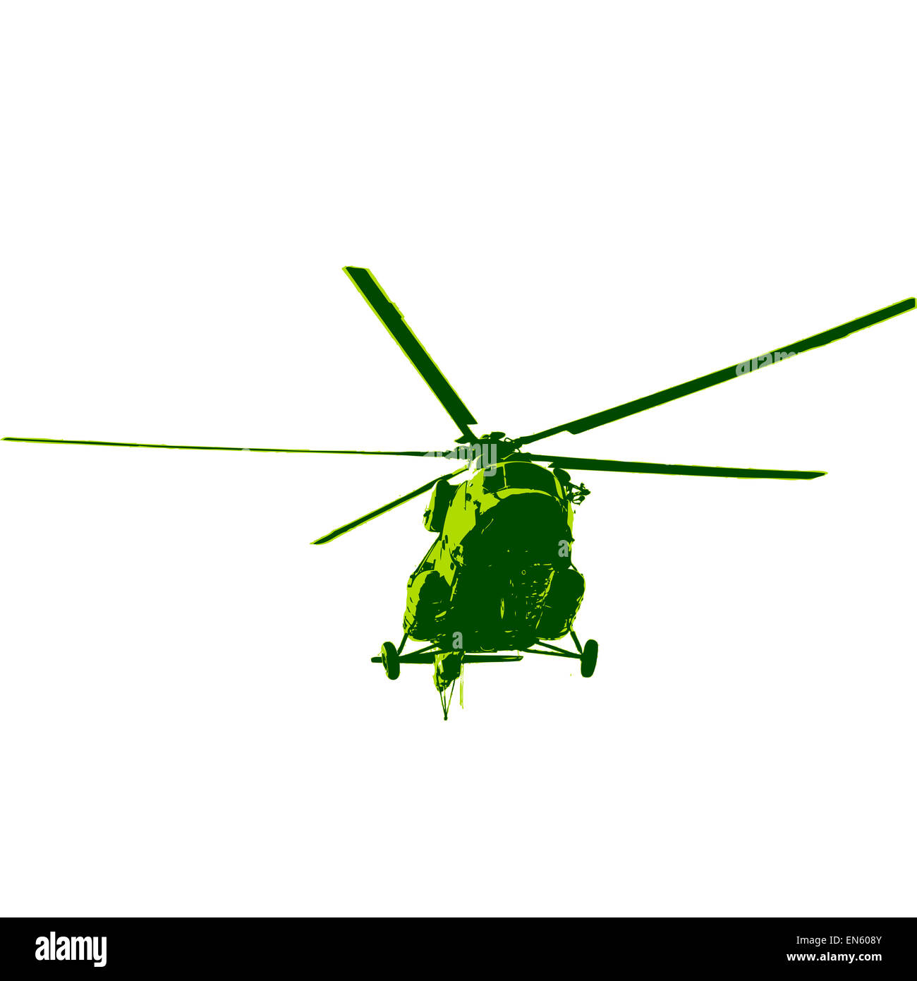 Russian army Mi-8 helicopter. Vector illustration. - Stock Image