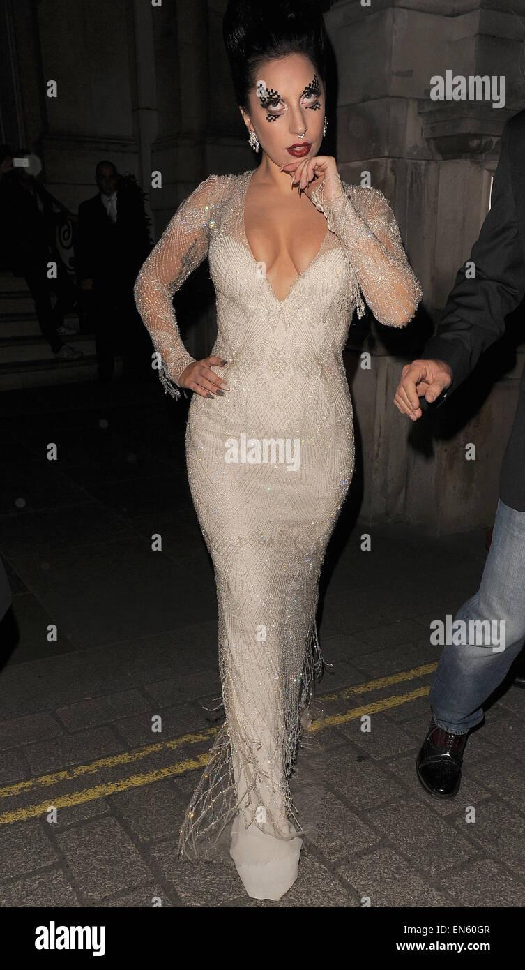 f445a0e17fa Lady Gaga displays ample cleavage as she leaves her London hotel Featuring   Lady Gaga Where