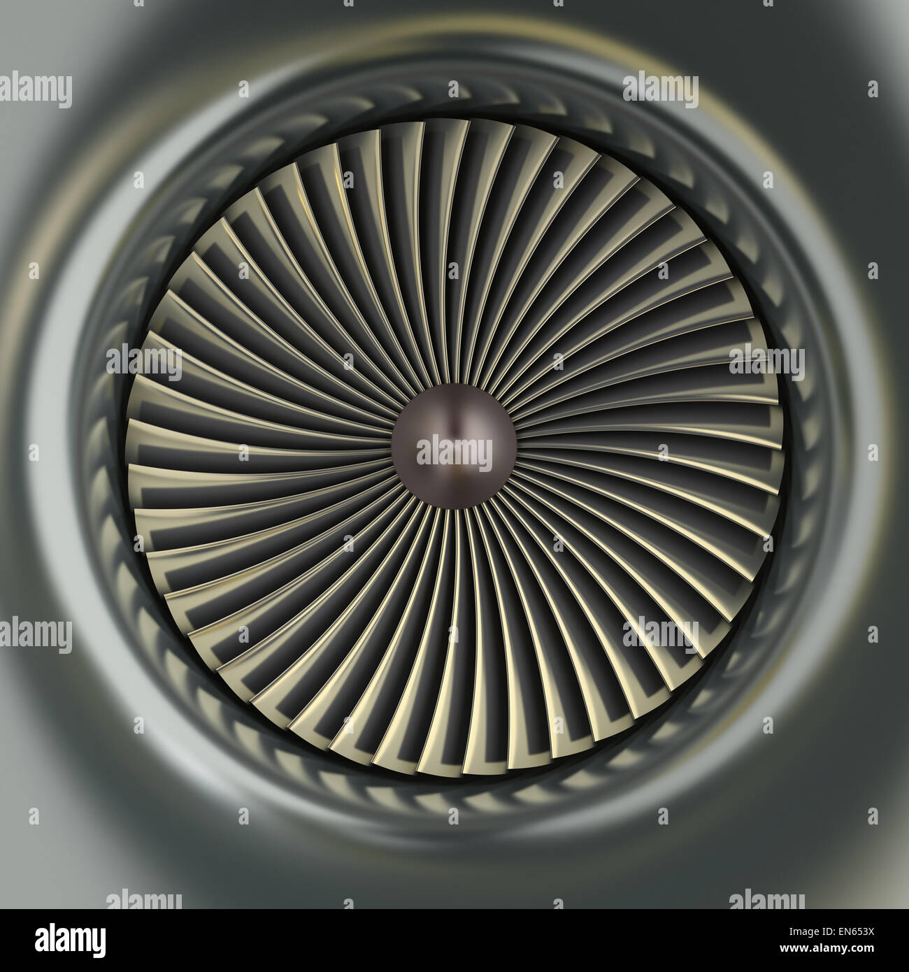 Gas Turbine Jet Engine - Stock Image