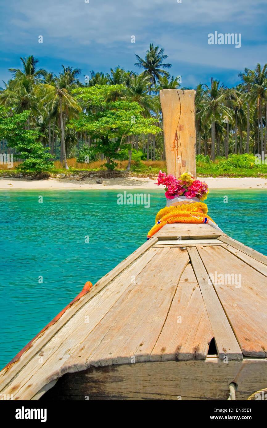 Longtail boat in Krabi, Thailand - Stock Image