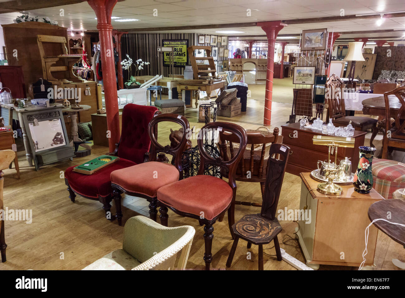 Secondhand furniture shop in Stroud, Gloucestershire, UK - Stock Image