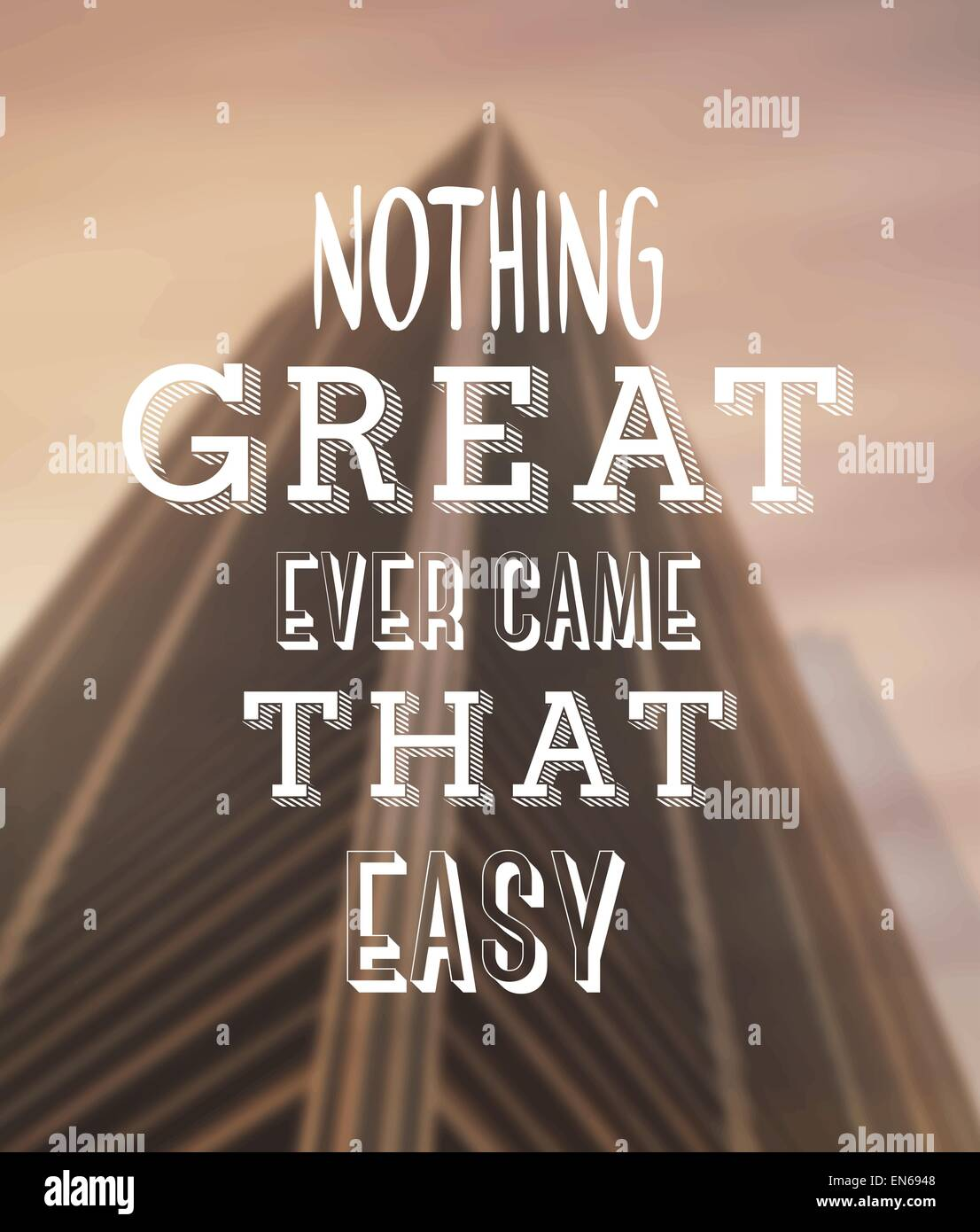 Motivational vector with text - Stock Image