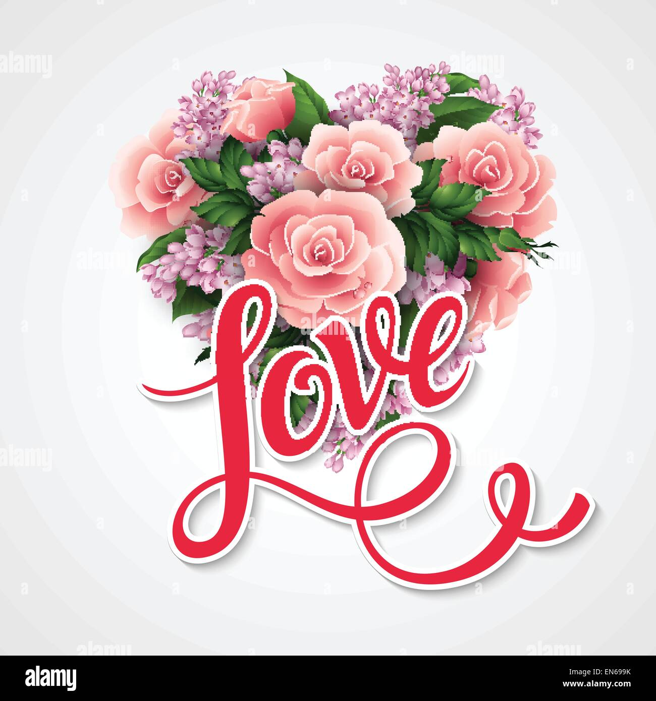 Valentines day vector illustration with a heart of beautiful flowers valentines day vector illustration with a heart of beautiful flowers izmirmasajfo