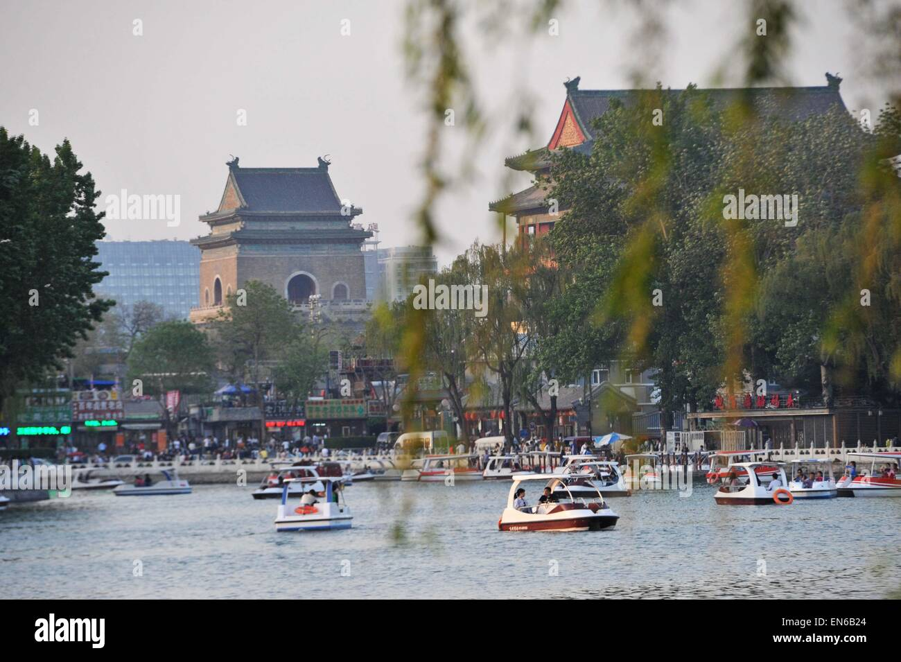 April 25, 2015 - Beijing, Beijing, CHN - Beijing, CHINA - APR 25 2015: (EDITORIAL USE ONLY. CHINA OUT) Shichahai - Stock Image
