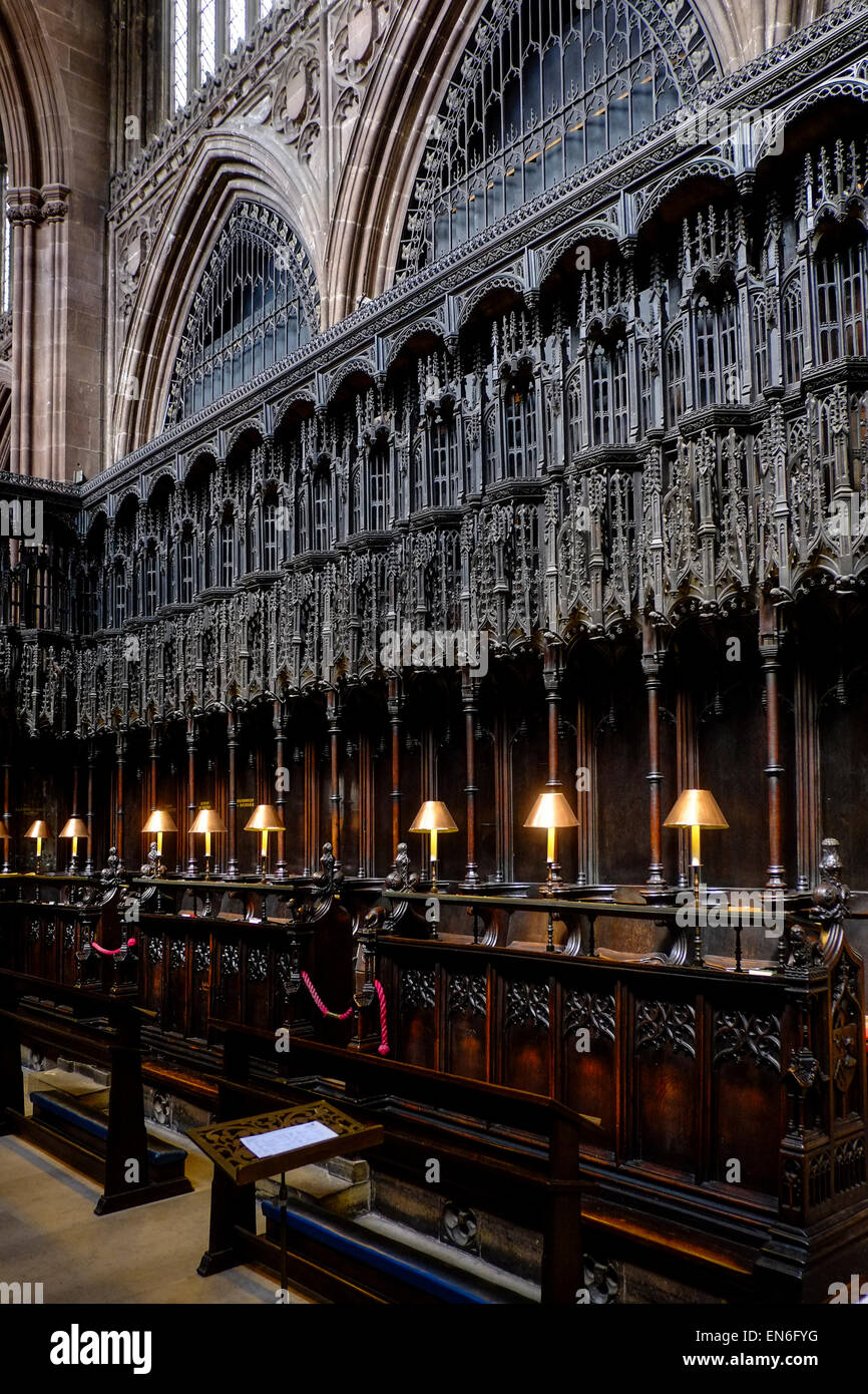 Manchester Cathedral - Stock Image