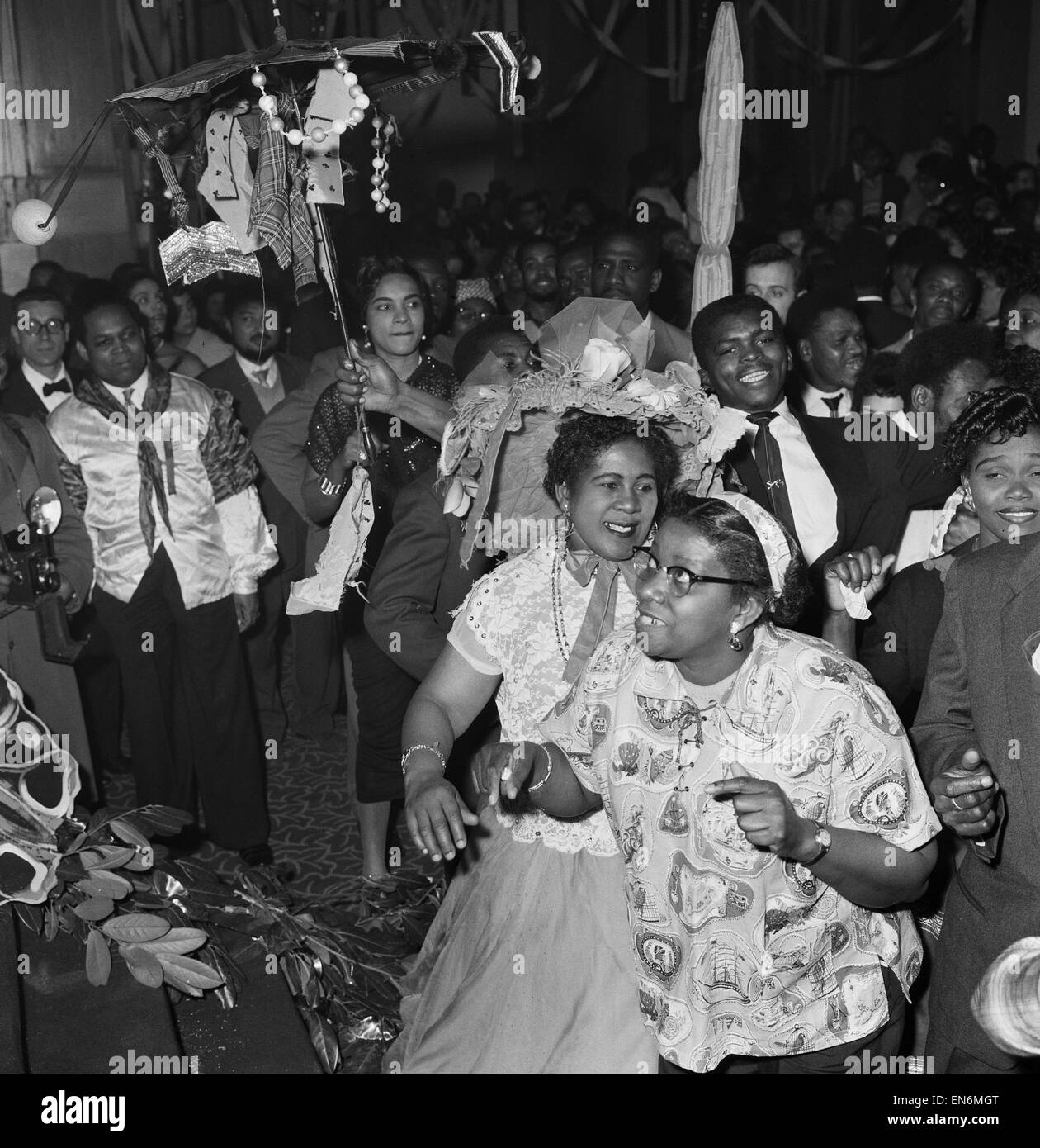 The first ever 'Notting Hill carnival', created in response to the previous year's racial riots in the - Stock Image