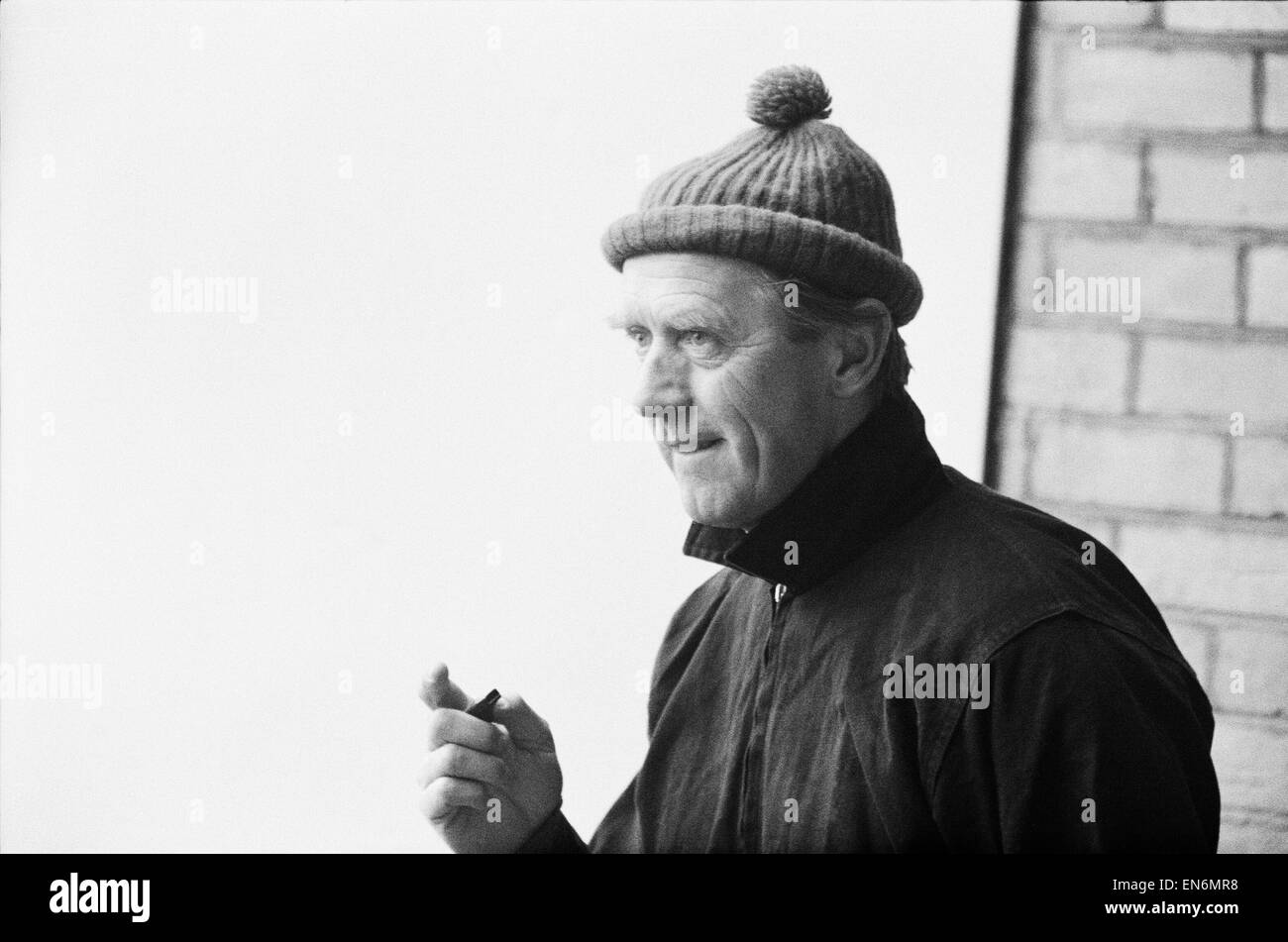 Fulham manager and coach Vic Buckingham putting his team through a training session. 7th December 1967. - Stock Image