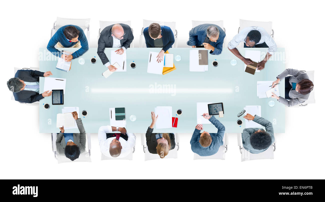Group of People in a Meeting - Stock Image