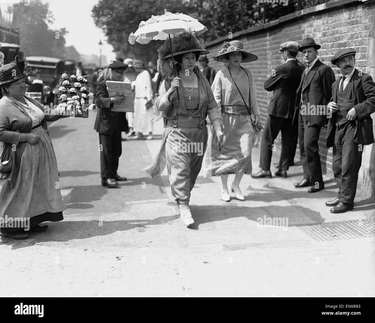 Mrs Baldwin July 1923 Wife of Prime Minister Stanley Baldwin Pictured arriving at Lords Cricket Ground Cricket match - Stock Image