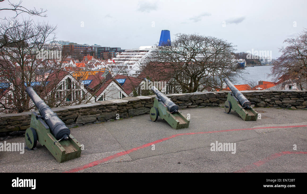 Valberget the Old Watchtower and look out point. Stavanger, Norway. - Stock Image