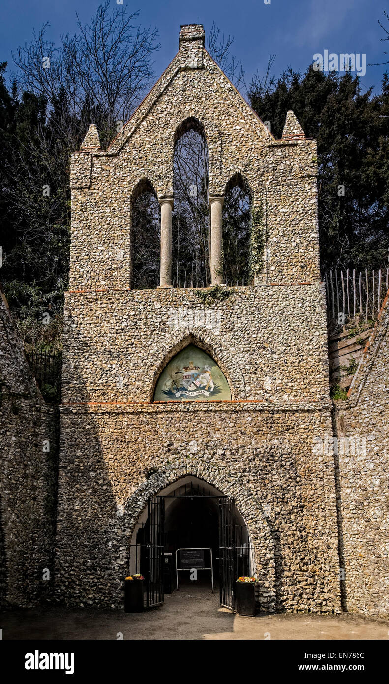 Entrance to the Hell Fire Caves, West Wycombe - Stock Image