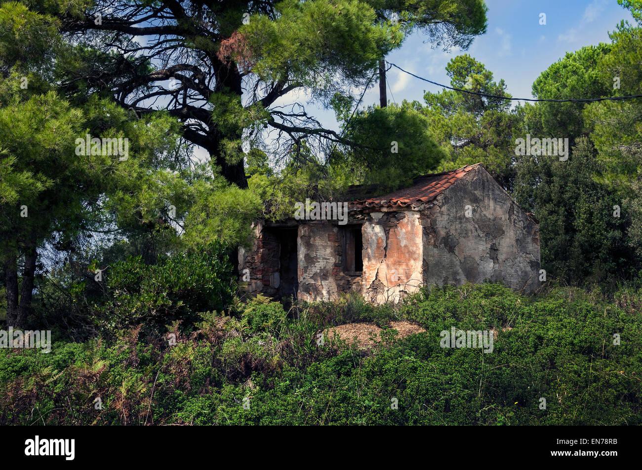 Old Building in Skiathos. - Stock Image