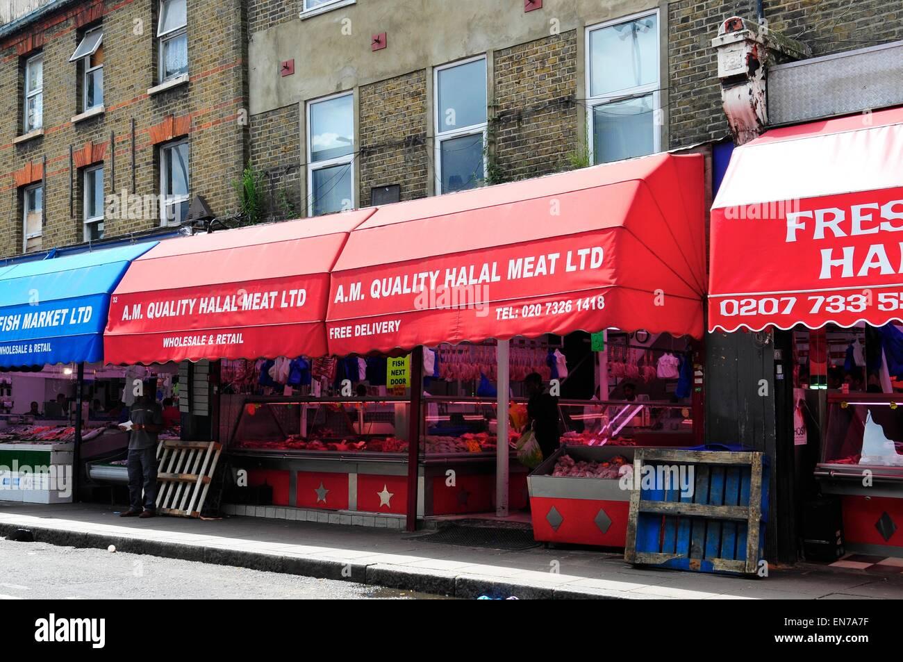 Halal Meat Shop, Brixton Market, Brixton, London, England