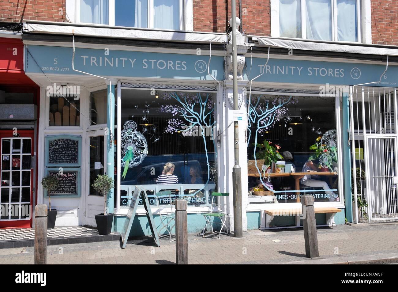 Trinity Stores Cafe and Deli, Balham, London, England, UK - Stock Image