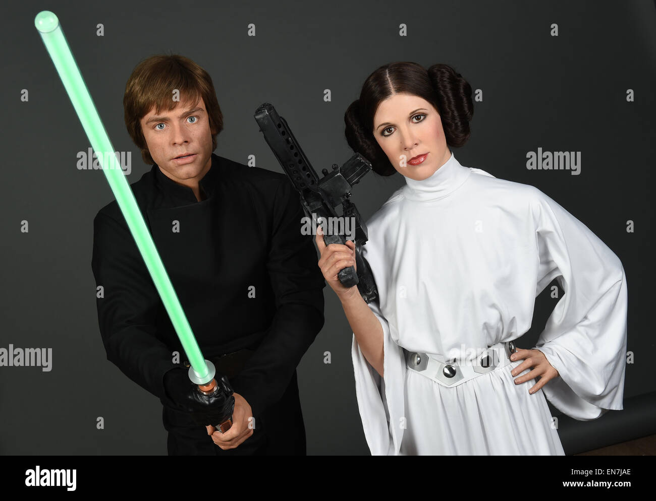 London UK. 29th Apr 2015. dpa-exclusive The wax figures  sc 1 st  Alamy : luke and leia baby costumes  - Germanpascual.Com