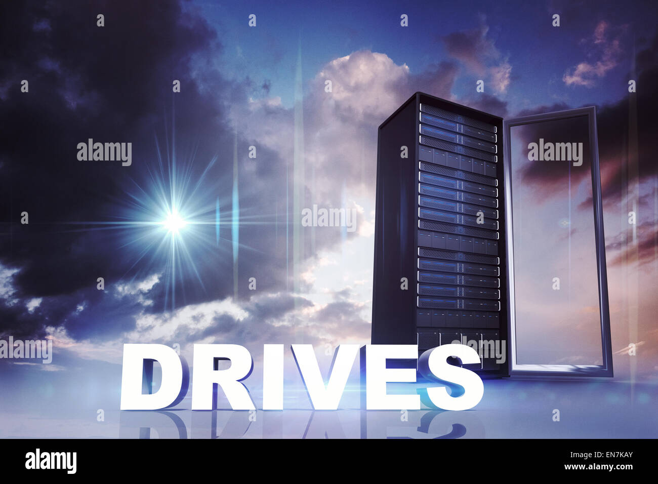 Composite image of drives - Stock Image