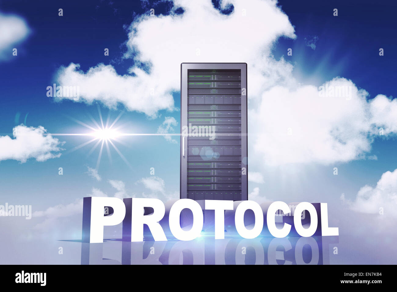 Composite image of protocol - Stock Image