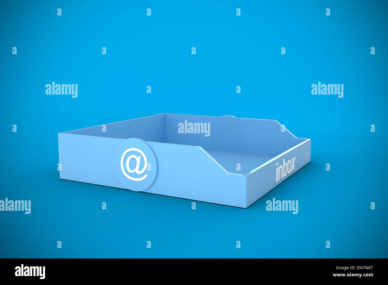 Composite image of blue inbox - Stock Image