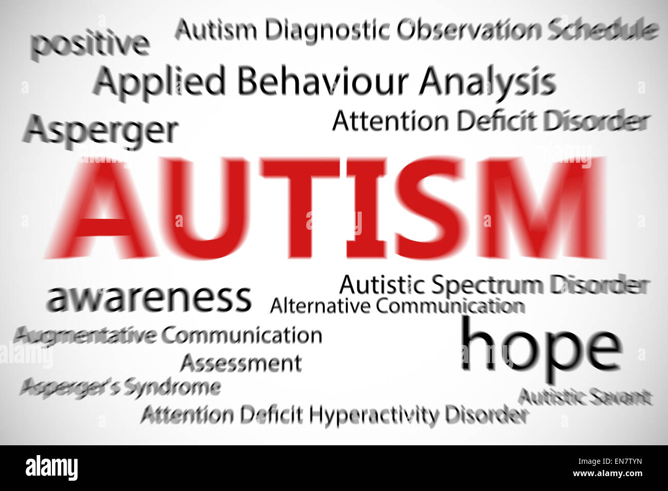 Composite image of autism - Stock Image