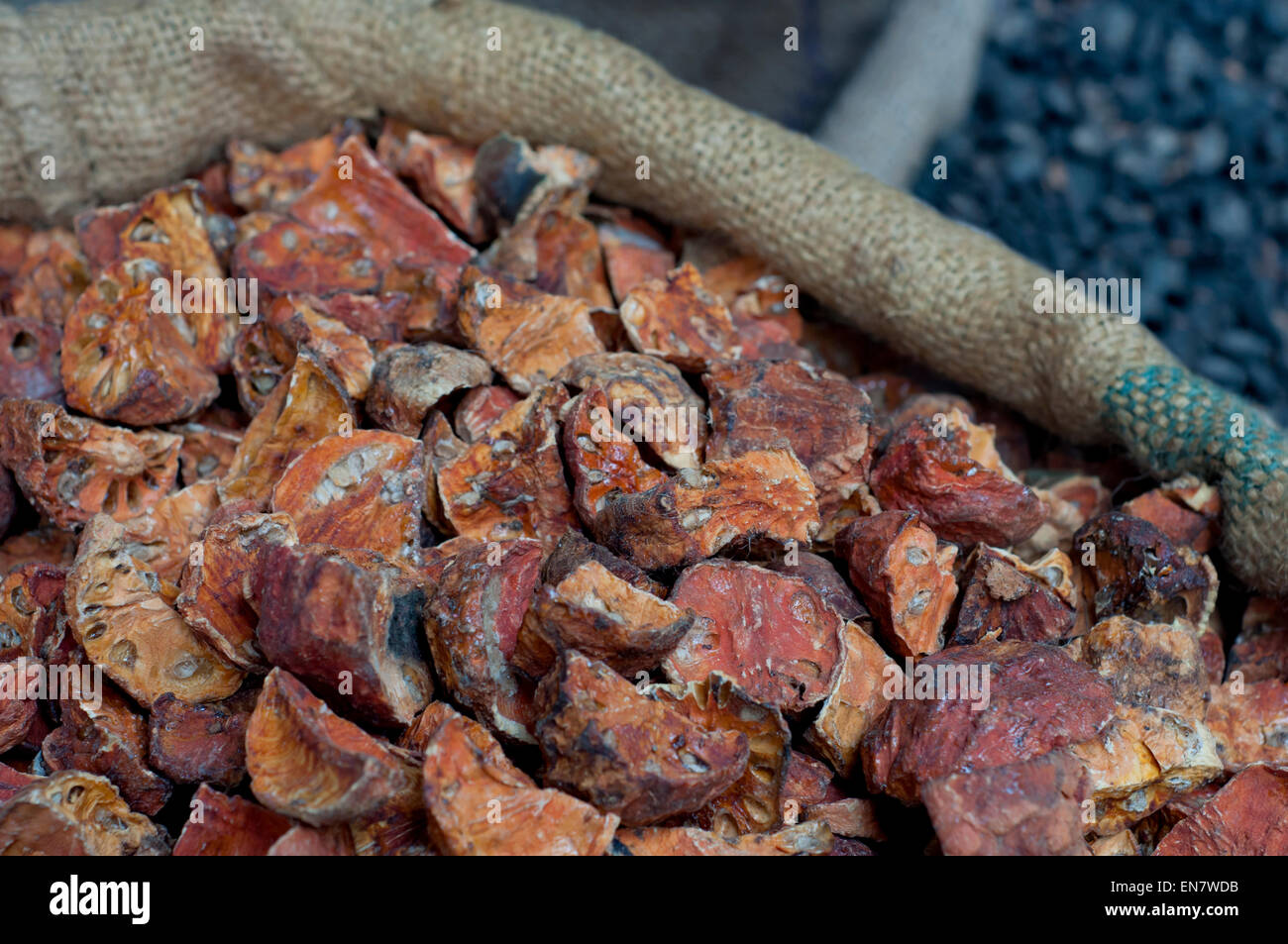 Dried beal for sale at the market - Stock Image