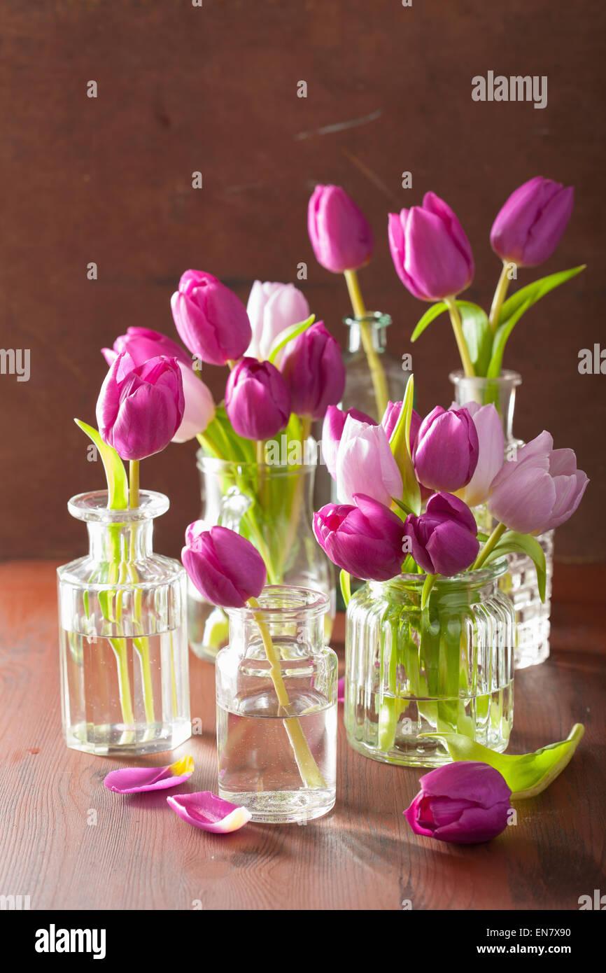 Beautiful purple tulip flowers bouquet in vases stock photo beautiful purple tulip flowers bouquet in vases izmirmasajfo