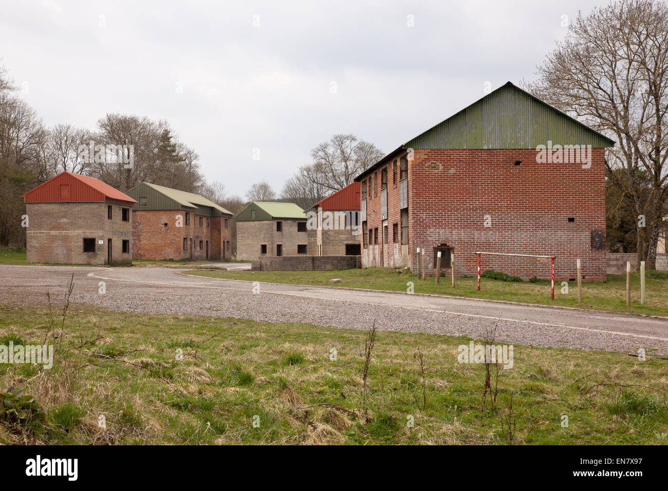 Deserted military village of Imber, Salisbury Plain, Wiltshire - Stock Image
