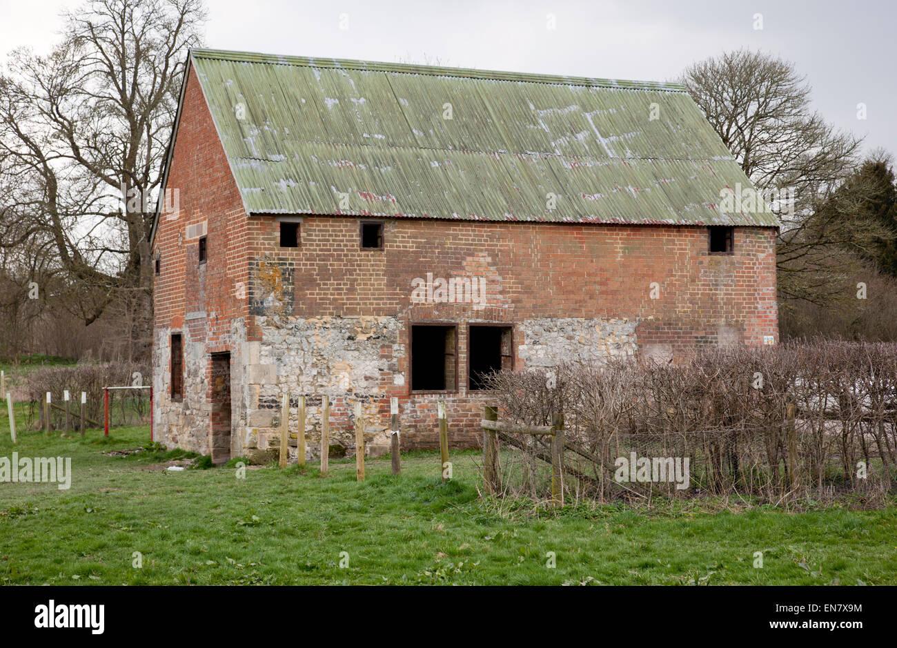 Deserted Salisbury Plain village of Imber, Wiltshire - Stock Image