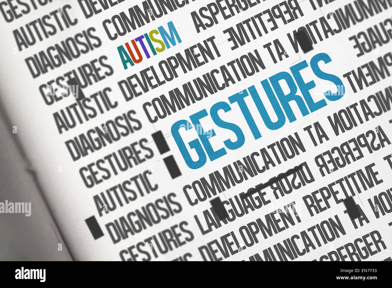 Gestures against open book - Stock Image