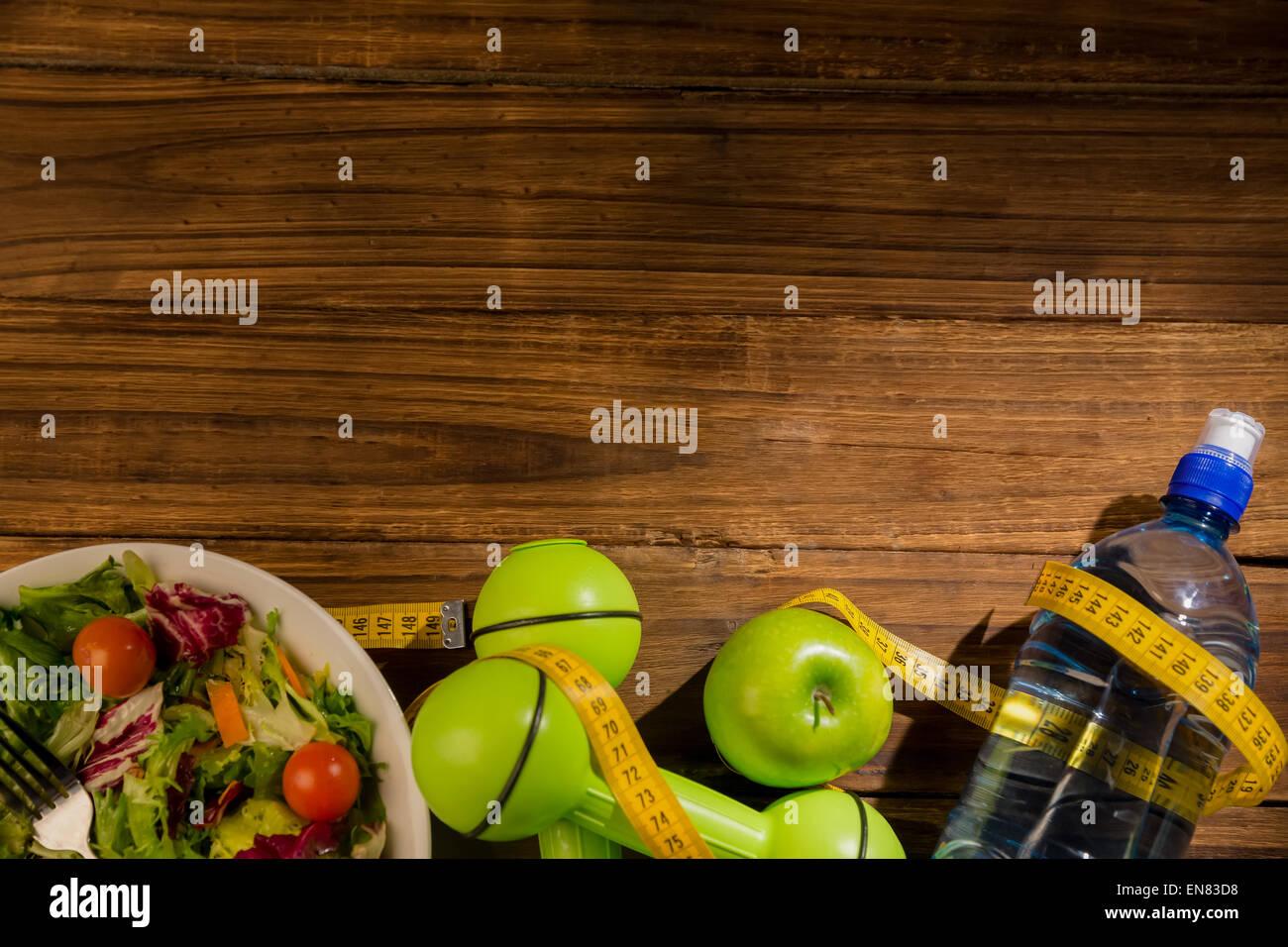 Indicators of healthy lifestyle - Stock Image