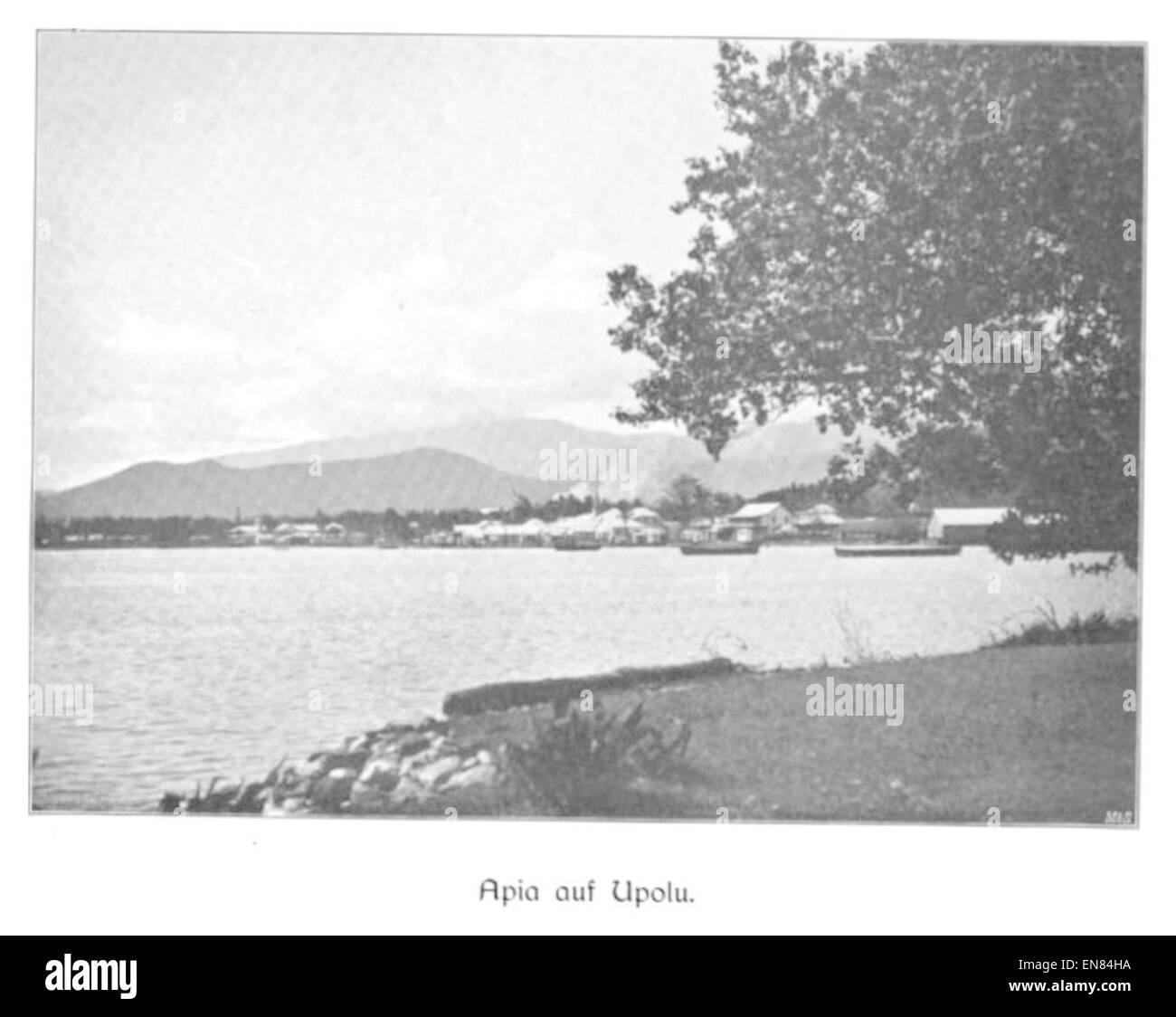 WOHLTMANN(1904) p096 Samoa, Blick auf Apia, Hauptort der Insel Upolu - Stock Image