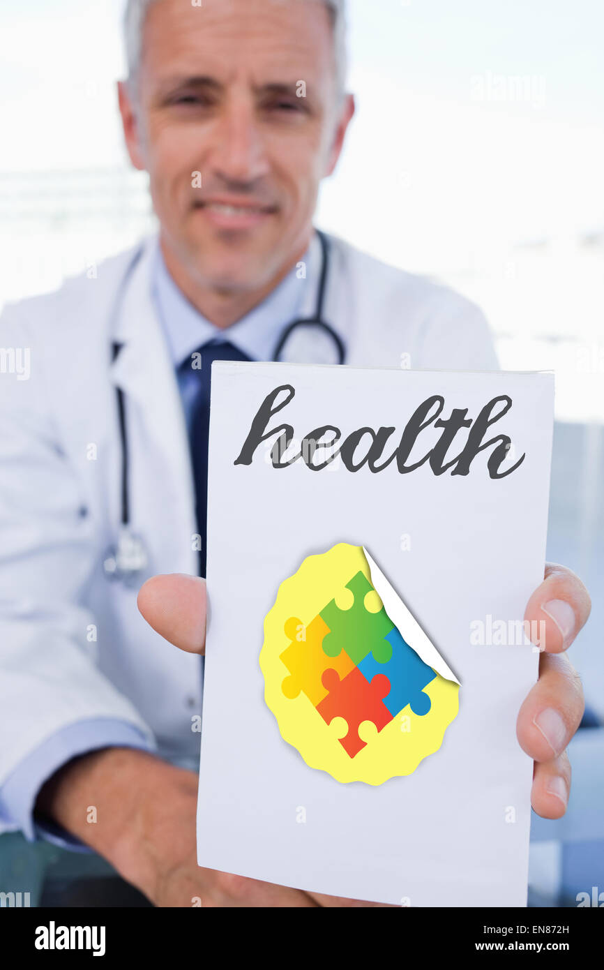 Health against autism awareness jigsaw - Stock Image