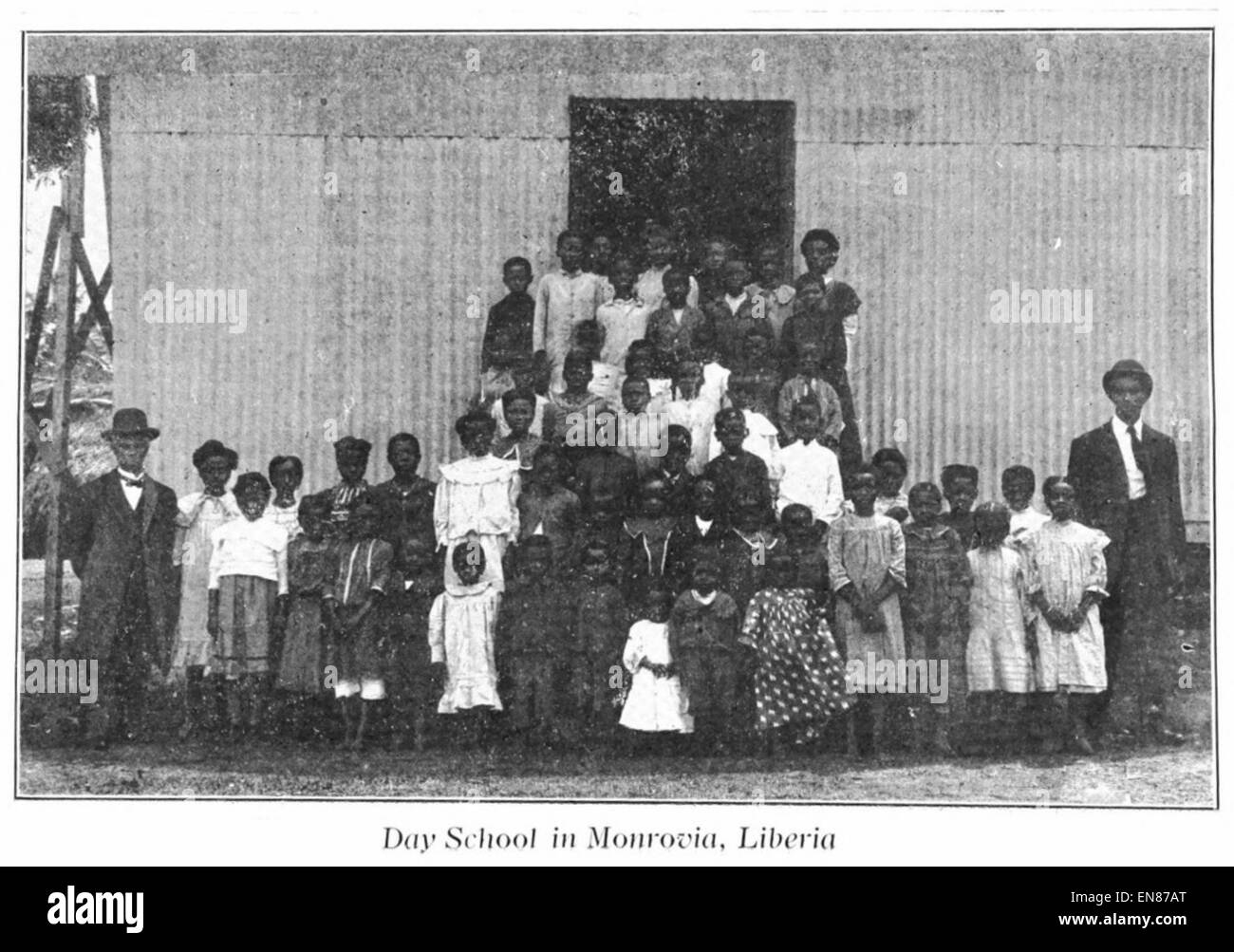 HEARD(1910) 08 - A.M.E. Day School at Monrovia, Liberia - Stock Image