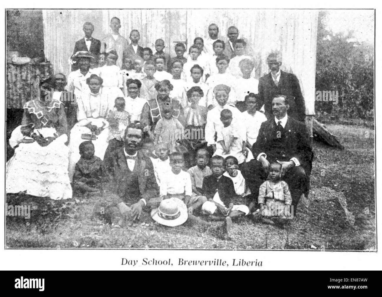 HEARD(1910) 09 - A.M.E. Day School at Brewersville, Liberia - Stock Image