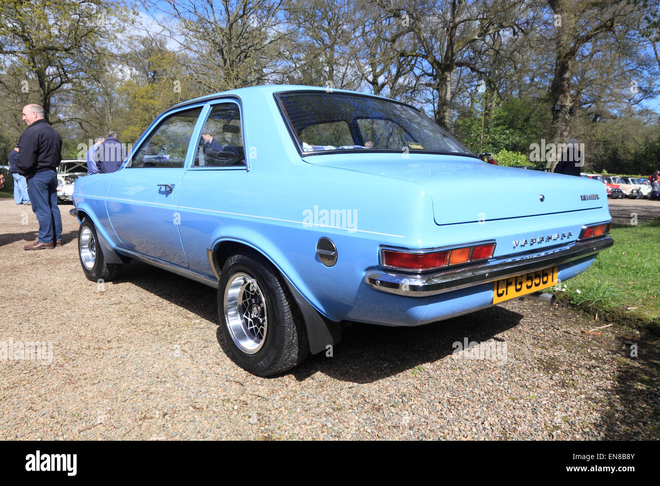 Vauxhall Viva HC at a classic car show, County Armagh, Northern Ireland - Stock Image