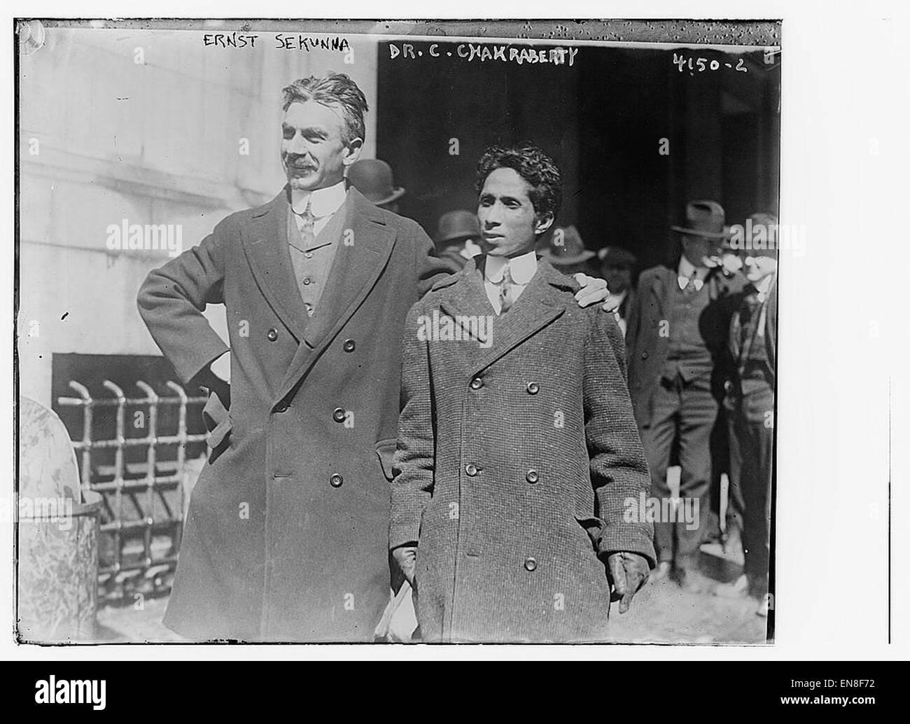 Ernst Sekunna & Chandra Charkraberty - Stock Image