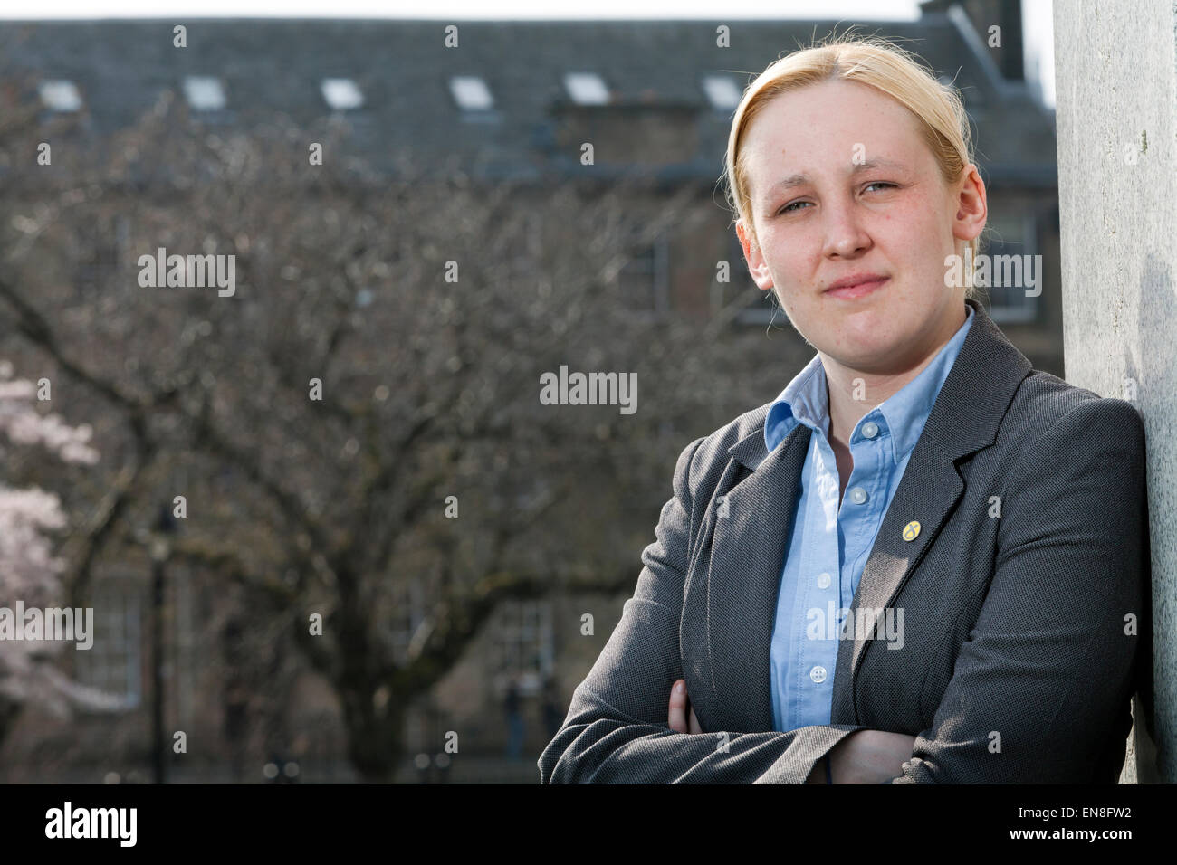 Mhairi Black, MP, the 20 year-old SNP candidate for Paisley and Renfrewshire South who beat Labour's Douglas - Stock Image