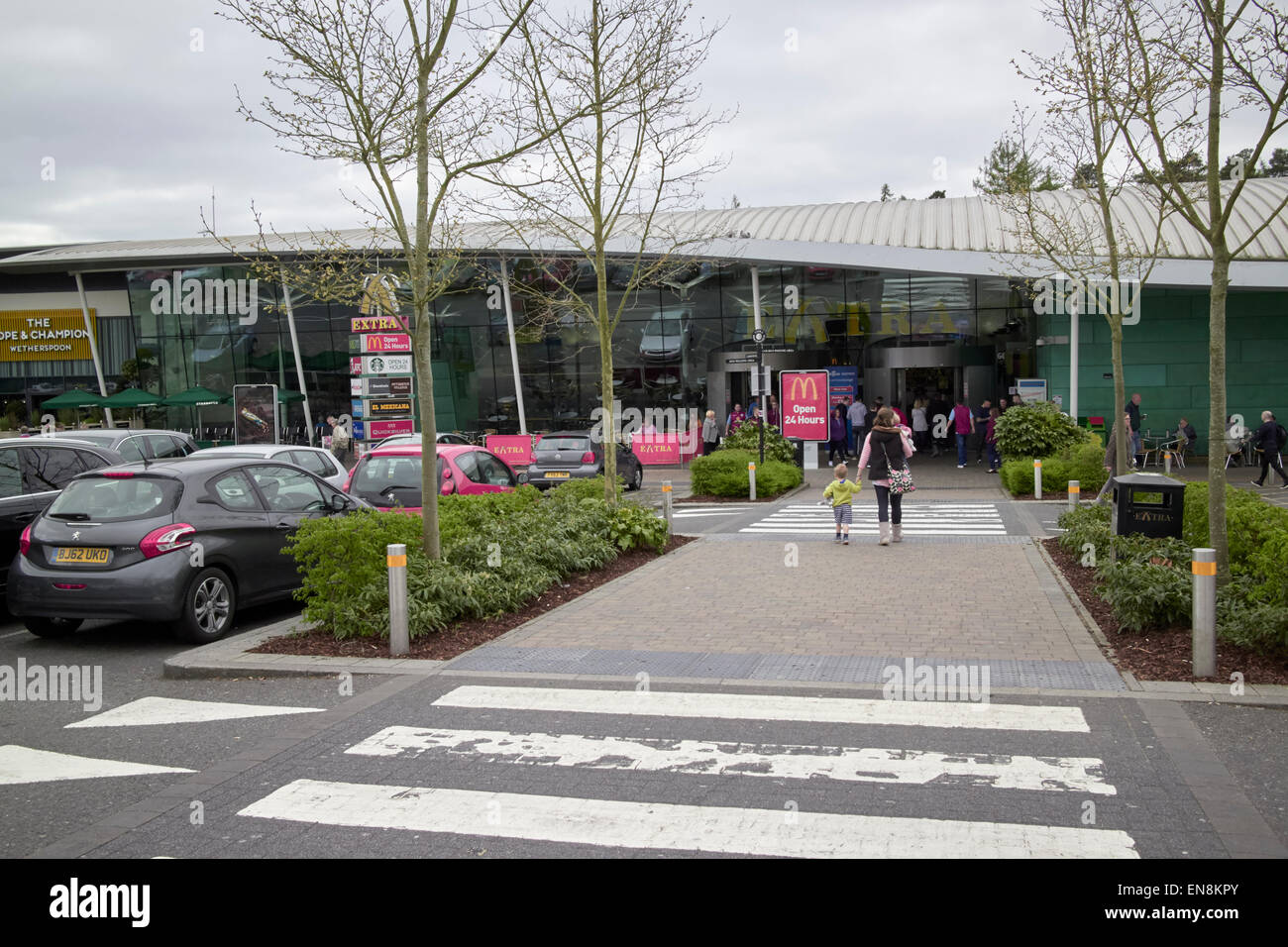 beaconsfield services m40 motorway service station england uk - Stock Image