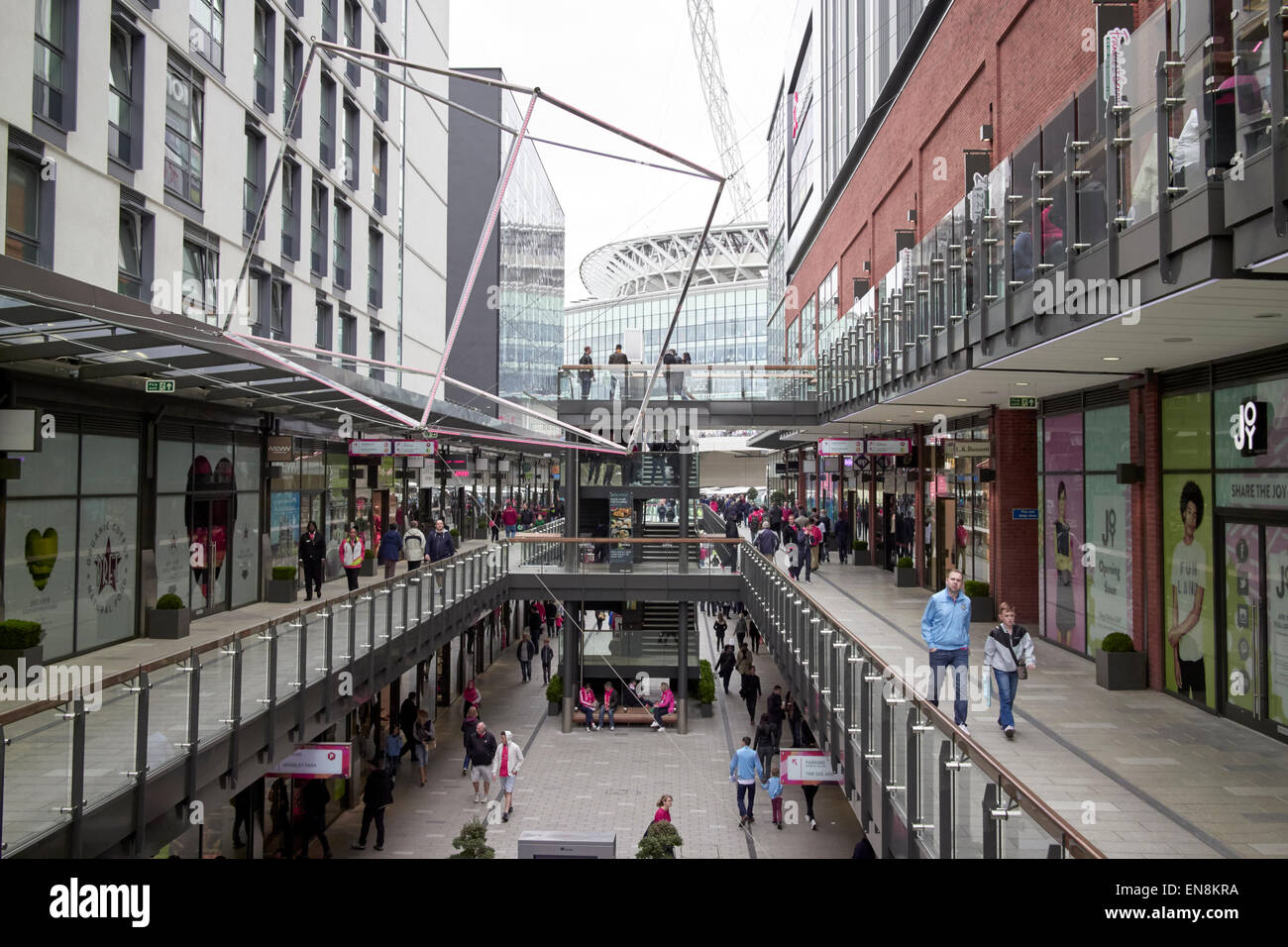 London designer outlet shopping mall centre Wembley London UK - Stock Image