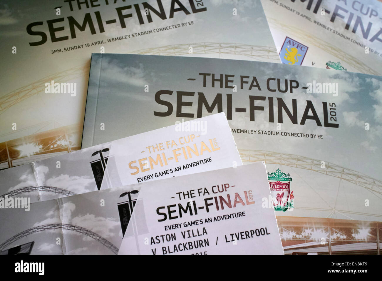 fa cup semi final tickets and programmes - Stock Image