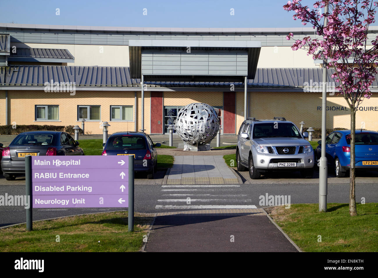 regional acquired brain injury unit at Musgrave Park Hospital belfast northern ireland - Stock Image