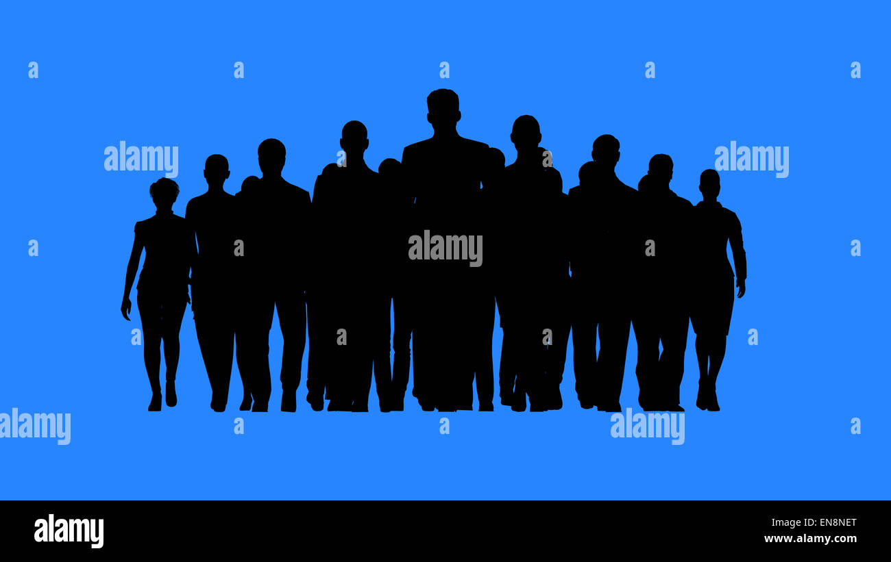 Leader heading the team. Work as a team concept. - Stock Image