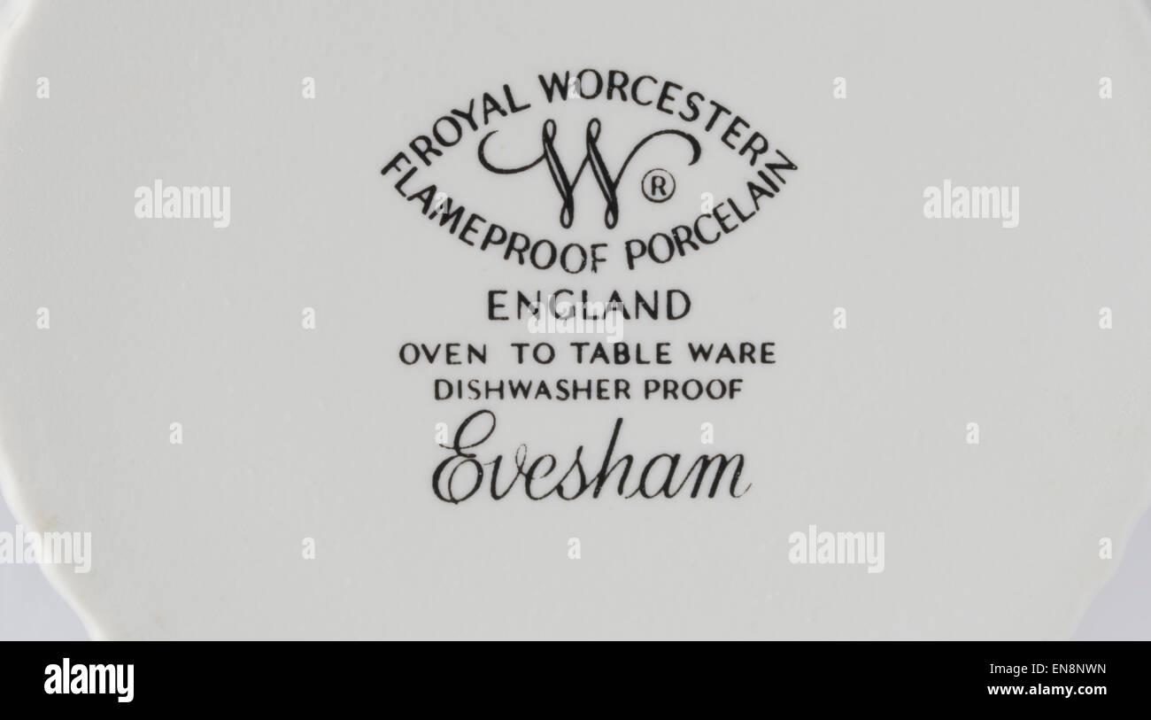 Royal Worcester Flameproof Porcelain - Evesham, Ceramics / Pottery Made in England - Stock Image