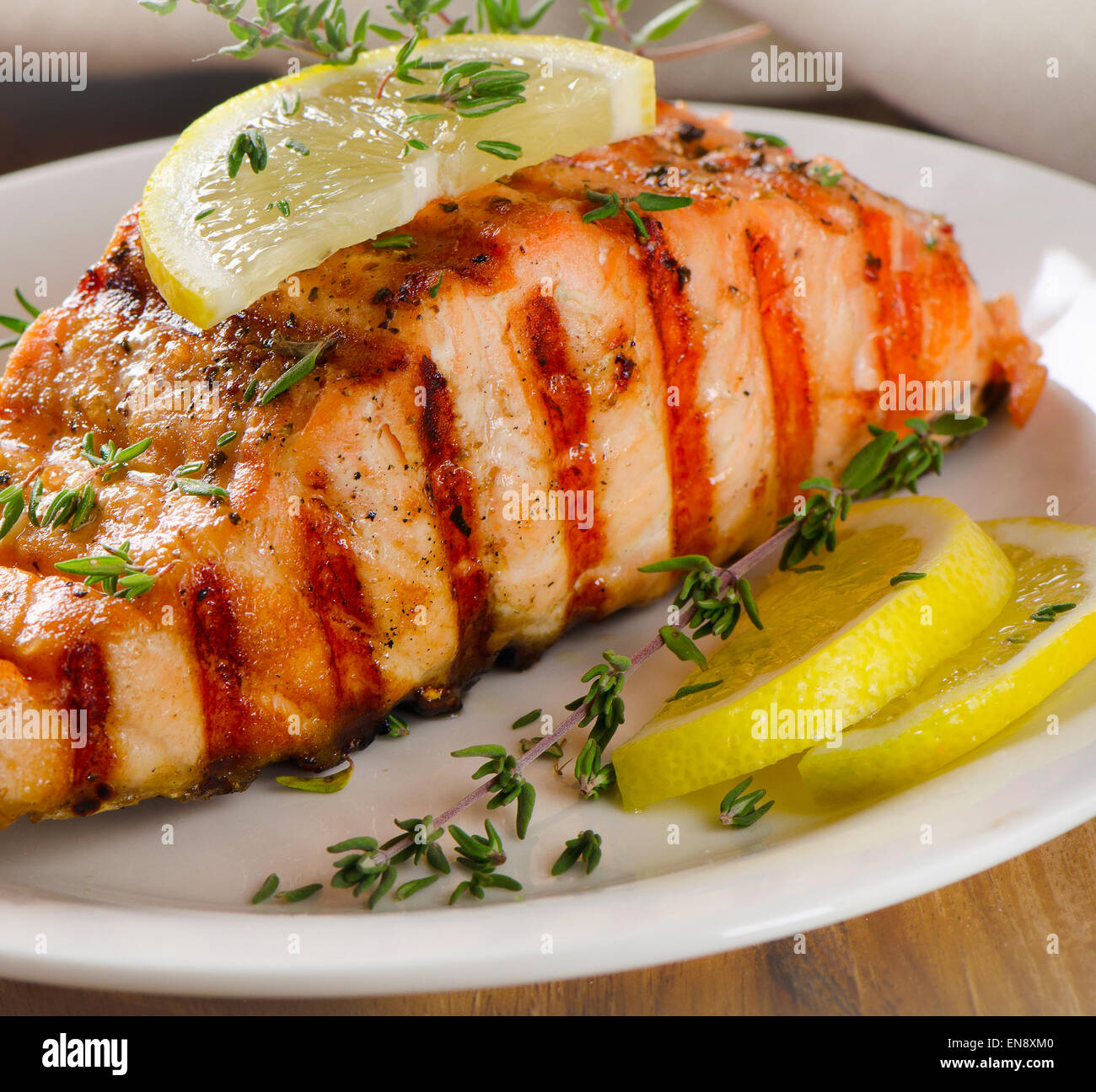 Grilled Salmon With Lemon Thyme
