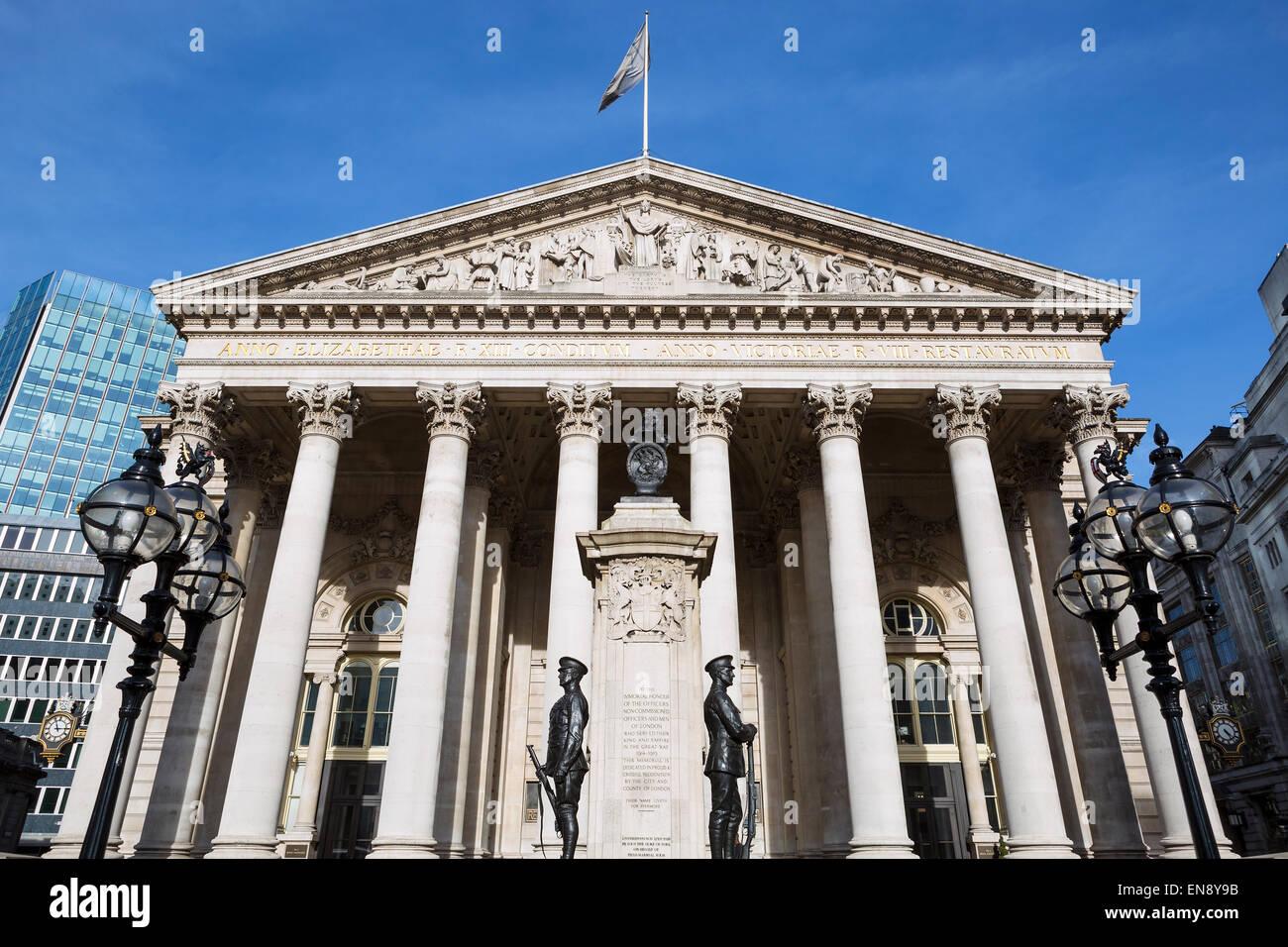 Royal Exchange, London, England, UK, Europe, now a luxury shopping centre. - Stock Image