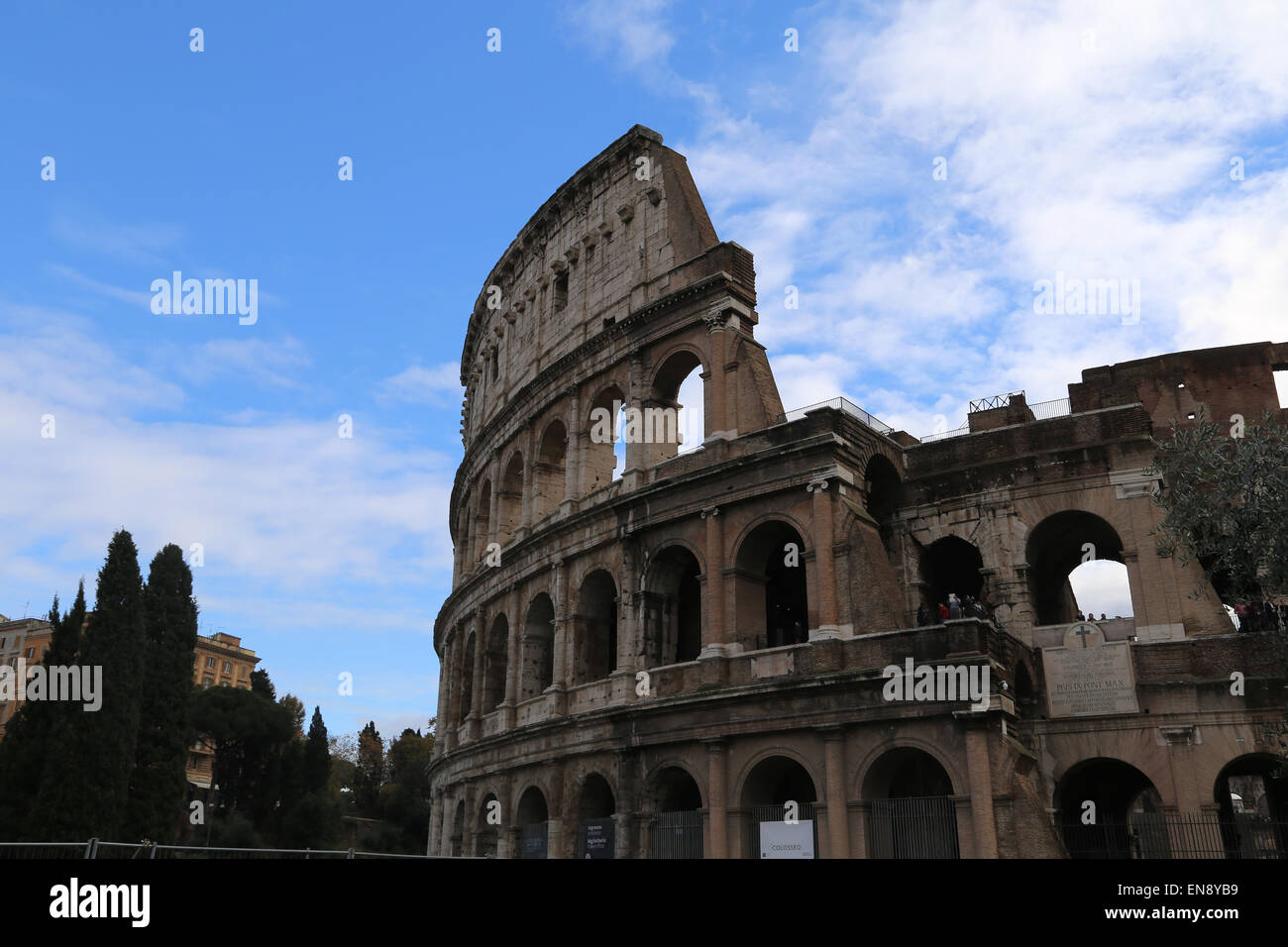 Italy. Rome. The Colosseum (Coliseum) or Flavian Amphitheatre. - Stock Image