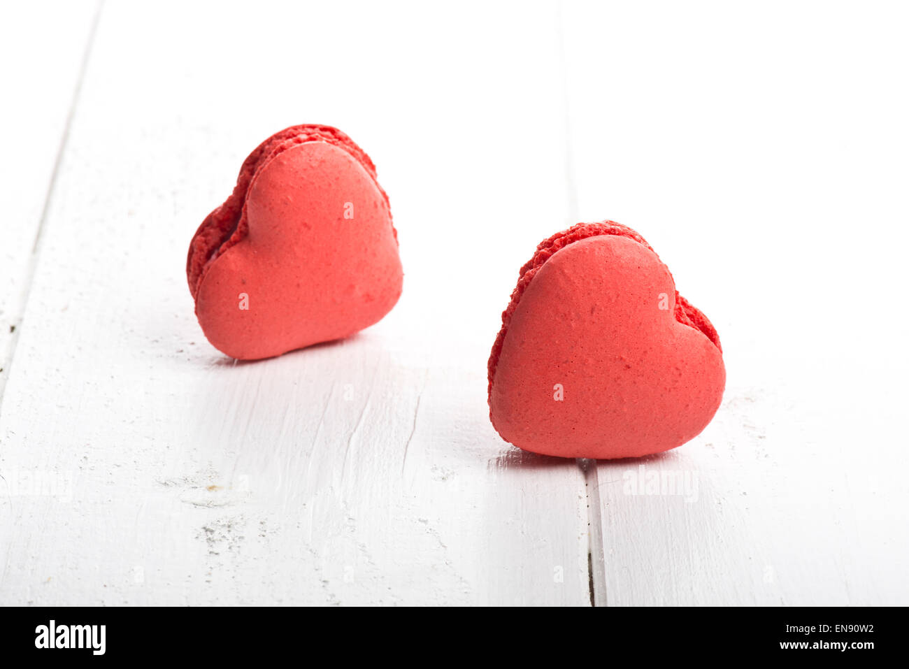 Delicious heart shaped cookies handmade for love season - Stock Image