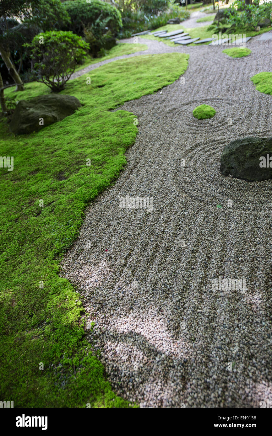 Hokokuji Temple is one of the few zen temples with a traditional Japanese garden in Kamakura. - Stock Image