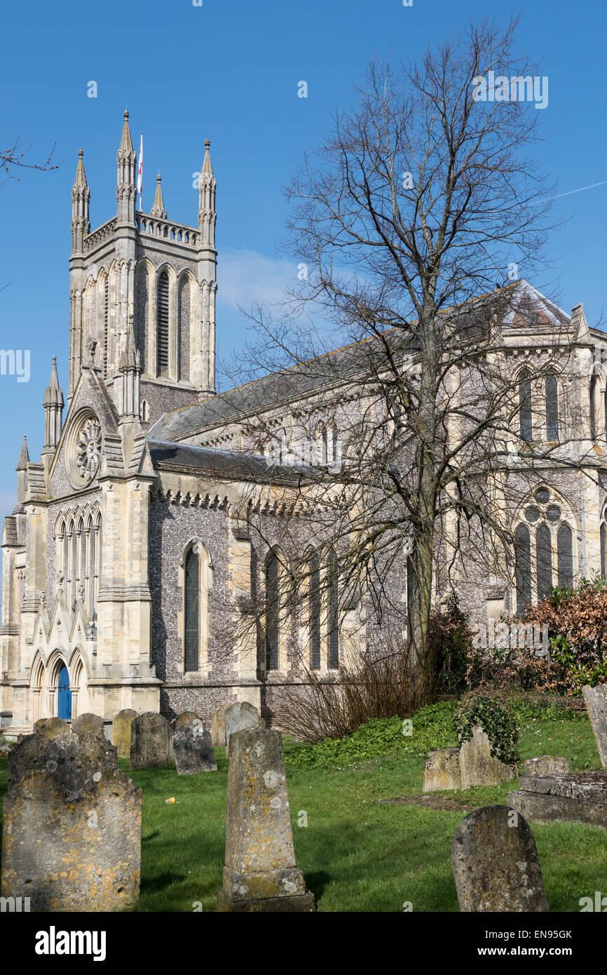 England, Hampshire, Andover, St.Mary's church - Stock Image