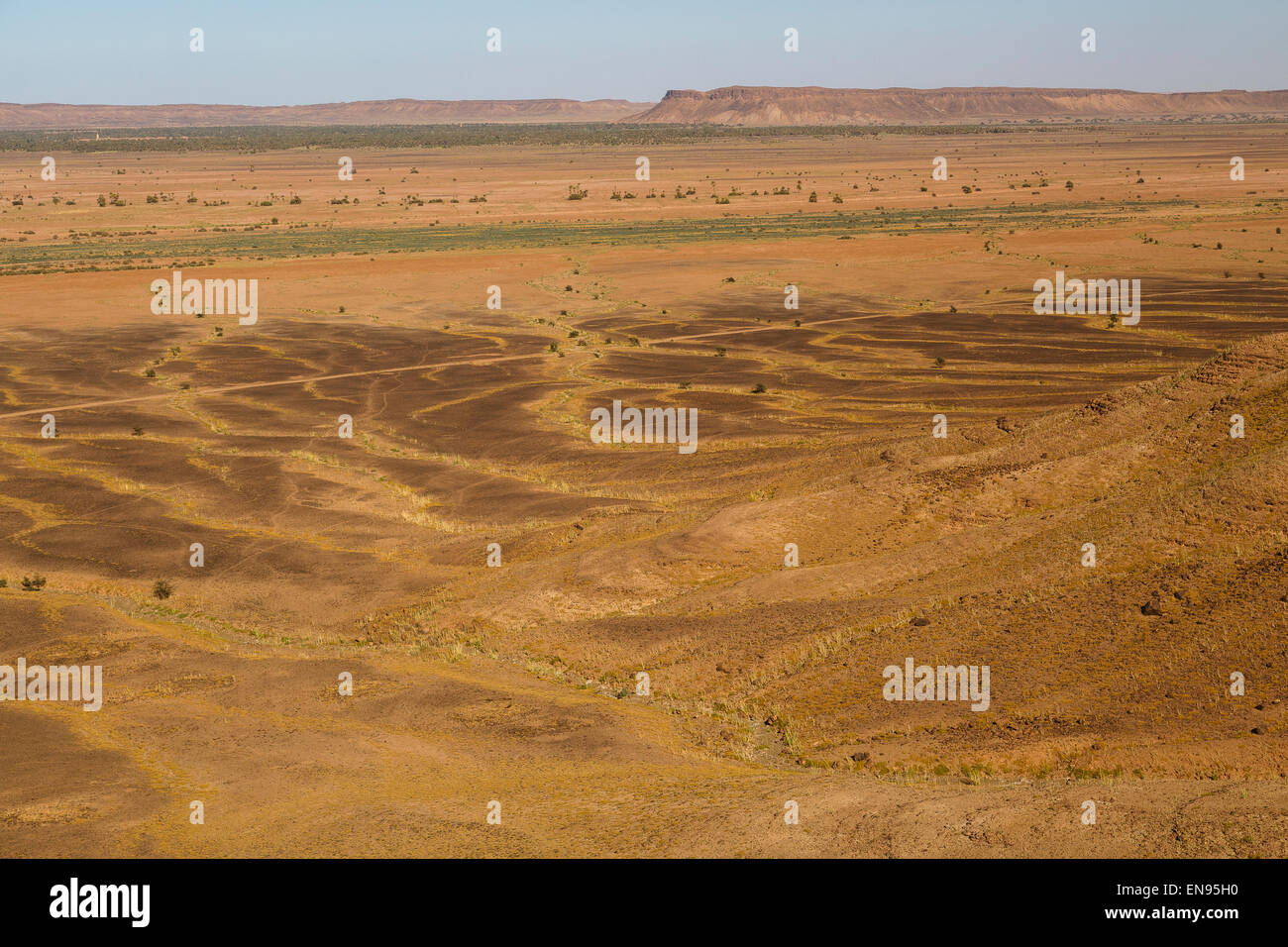 View. Tizi n Bensalmane. Road between Tamegruoute and M´hamid. Morrocco. Africa. - Stock Image